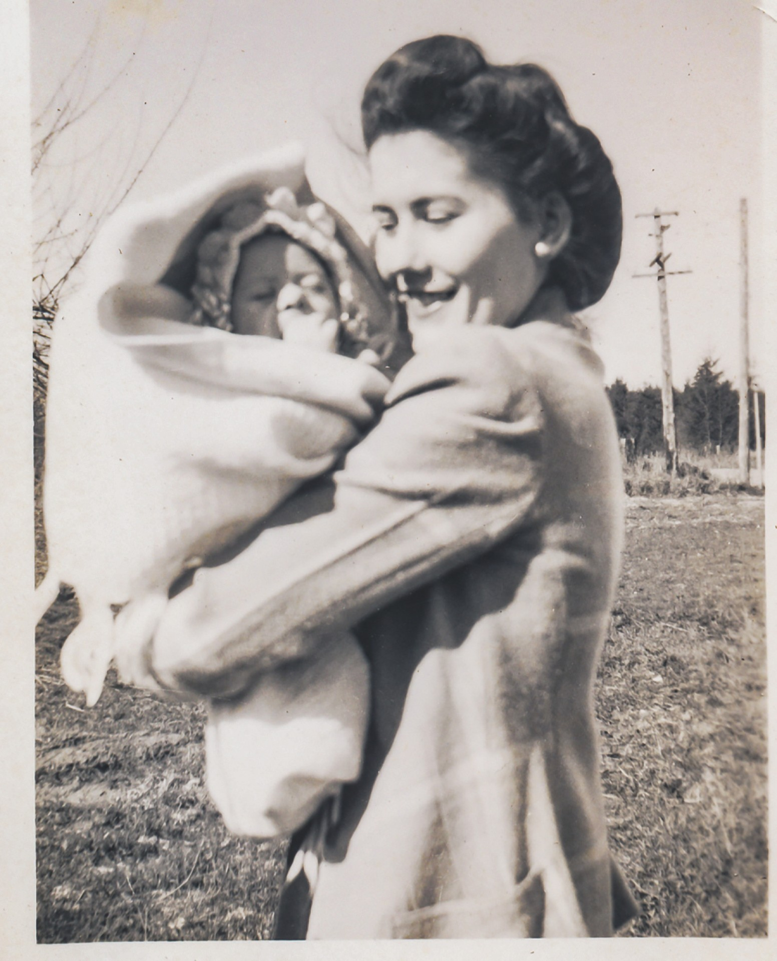 Ramona with baby Leslie